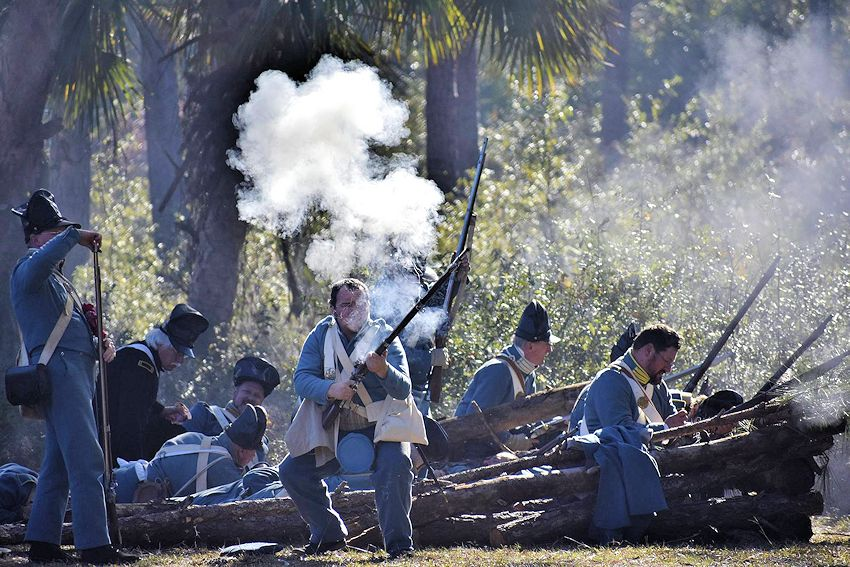 Battle of the Loxahatchee Reenactment - Loxahatchee River Battlefield Park - Loxahatchee Battlefield Preservationists
