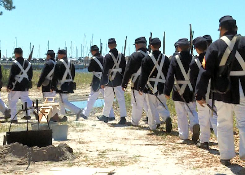 St Andrews Bay Salt Works Raid Reenactment - St Andrews Bay Salt Works Raid Reenactment Site - Pawnee Guard