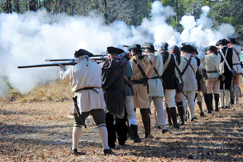 Battle of Moores Creek Bridge Reenactment - Moores Creek National Battlefield - Johnston County Colonial Militia Reenactors