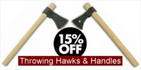 Brass & Iron Pipe Hawks & Axes - Crazy Crow Trading Post Crow Calls Sale May-June 2018