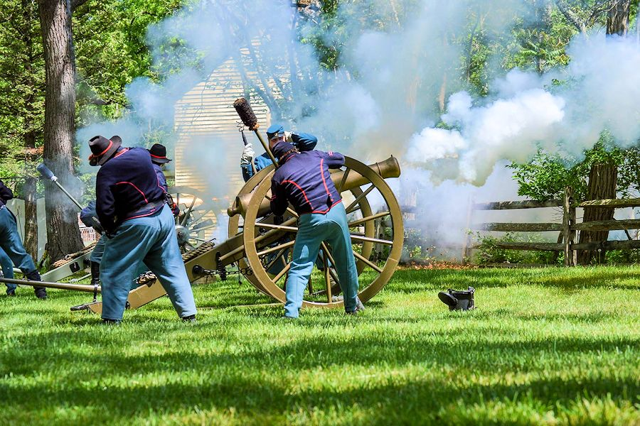 Historic Village at Allaire Civil War Encampment - Allaire State Park - Guilford Greys Civil War Reenactors
