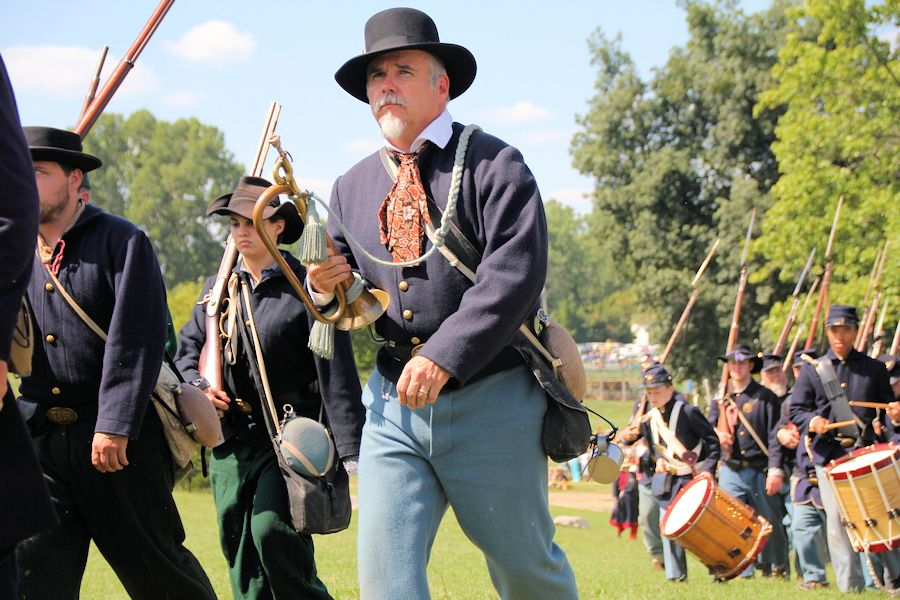 Jackson Civil War Muster - The Cascades - Experience Jackson - 5th Michigan Regiment Band - Michigan Cavalry Brigade Association