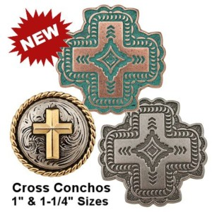 South Western Style 'Cross' Conchos