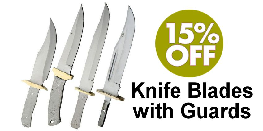 Knife Blades with Guards - SAVE 15% - Crazy Crow Trading Post Crow Calls Sale