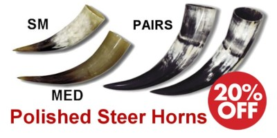 Steer Horns - Crazy Crow Trading Post Crow Calls Sale