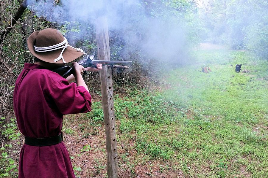 Camp Flintlock Colonial Faire, Camp Flintlock Primitive Blanket Shoot, Camp Flintlock Central North Carolina Tattoo