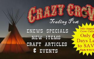 Last Chance Enews for July-August Crow Calls Sales & Specials