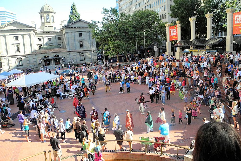 Dancing in the Square Powwow - Northwest Portland Area Indian Health Board - Pioneer Courthouse Square