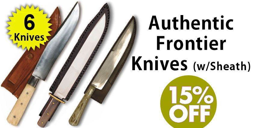 Select Authentic Handmade Frontier Knives