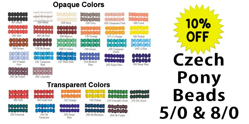 Czech Pony Beads Sale - SAVE 10%