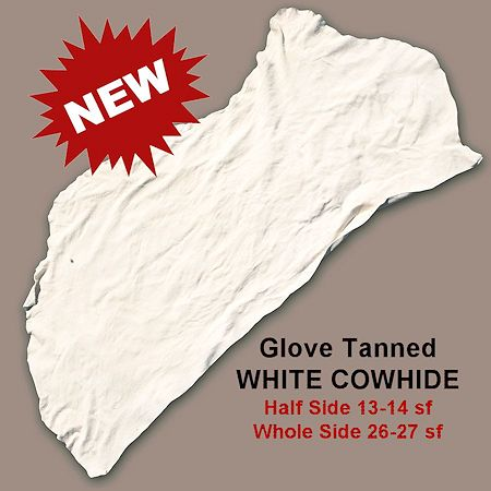 White Glove Tanned Cowhide - Half & Full Sides - Crazy Crow Trading Post