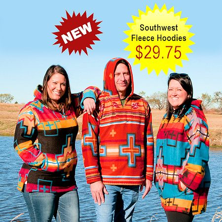 Southwest Hooded Fleece Pullovers