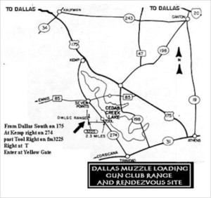 Frozen Foot Rendezvous - Dallas Muzzle Loading Gun Club Range Map