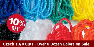 Czech Cut Seed Beads - 13/0 Strung - 10%
