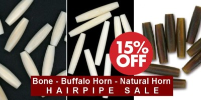 Bone Hairpipe Sale, Buffalo Horn & Natural Horn Hairpipe Sale - 15%