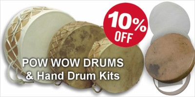 Pow Wow Drums and Hand Drum Kit Sale - 10%