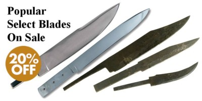 Hand-Forged Carbon Steel Knife Blades - 20%