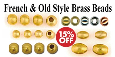 French & Old Style Brass & Nickel Beads - 15%