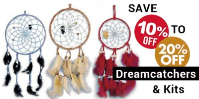 Native American Dreamcatchers & Dreamcatcher Kits - 10% to 20%
