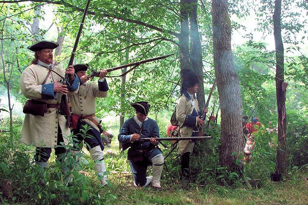 Mercers Massacre Reenactment - The Battle of the Great Cacapon - Fort Edward - Virginia Regiment Captain George Mercer Co Reenactor Group - Fort Edward Foundation