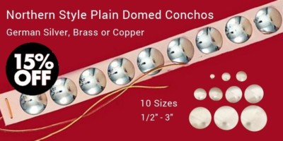 Plains Style Plain Domed Conchos - German Silver, Brass or Copper - 15% off