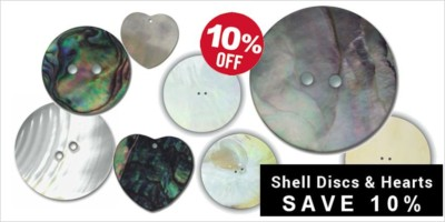 Shell Discs - Abalone, Mother of Pearl - Save 10%