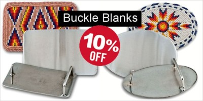 Rectangular & Oval Buckle Blanks for Beading - Save 10%