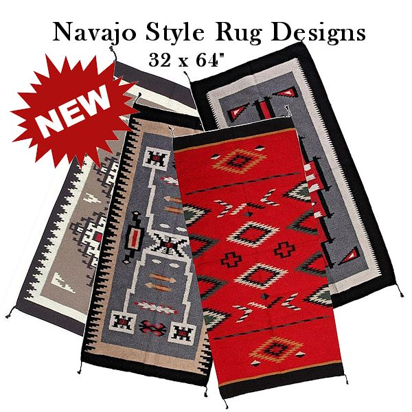 Navajo Style Rugs 32x64 Crazy Crow Trading Pot